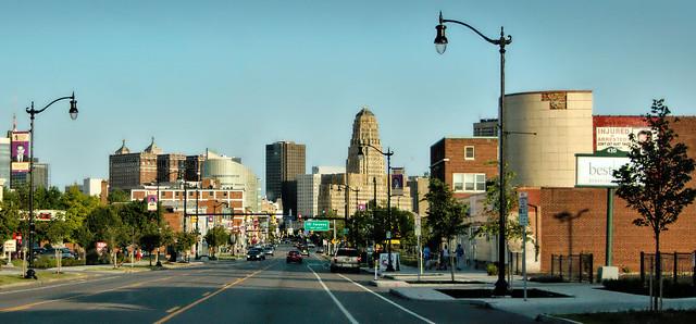 Early morning Buffalo NY  USA