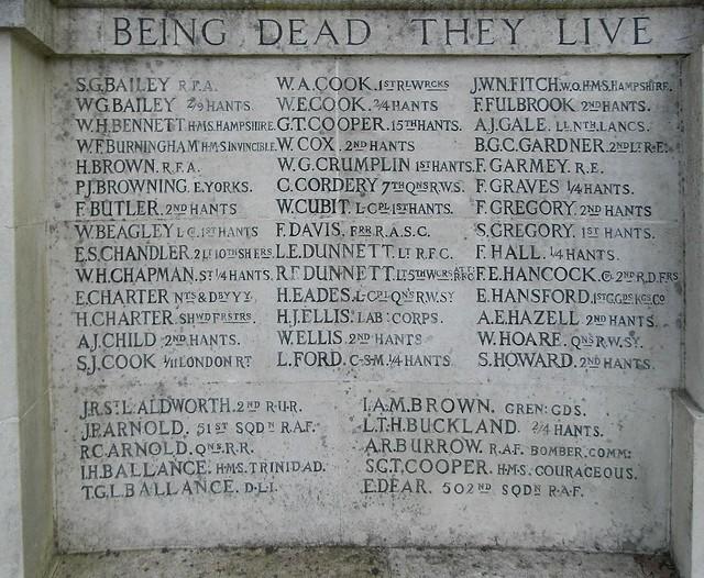 War Memorial, Hartley Wintney, Hampshire