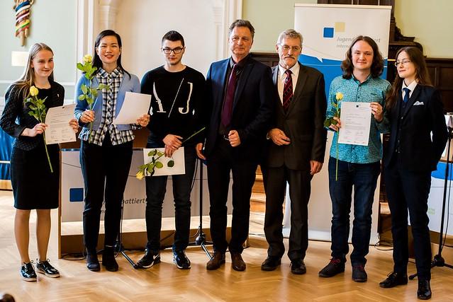 Finalisten und Ehrengaeste LF JDI 2018_(c)_Goethe Institut Riga_Foto_Linda Liepiņa