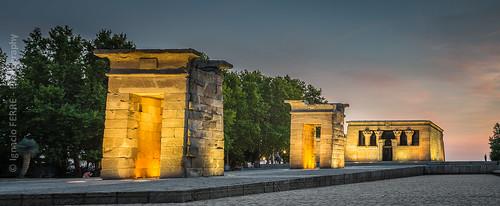 madrid españa spain arquitectura architecture building edificio temple templo egipcio egipto nikon sunset puestadesol panorama templodedebod debodtemple egypt egyptian