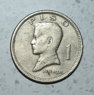 1974 Philippines one-peso coin - obverse