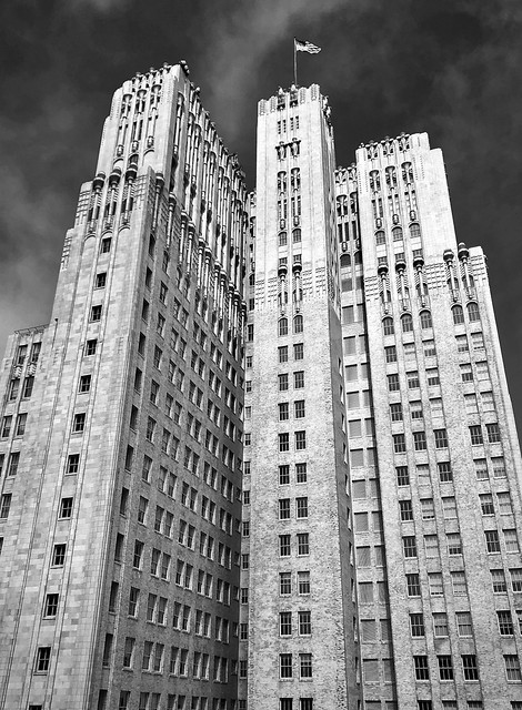 The Pacific Telephone Building, monochrome