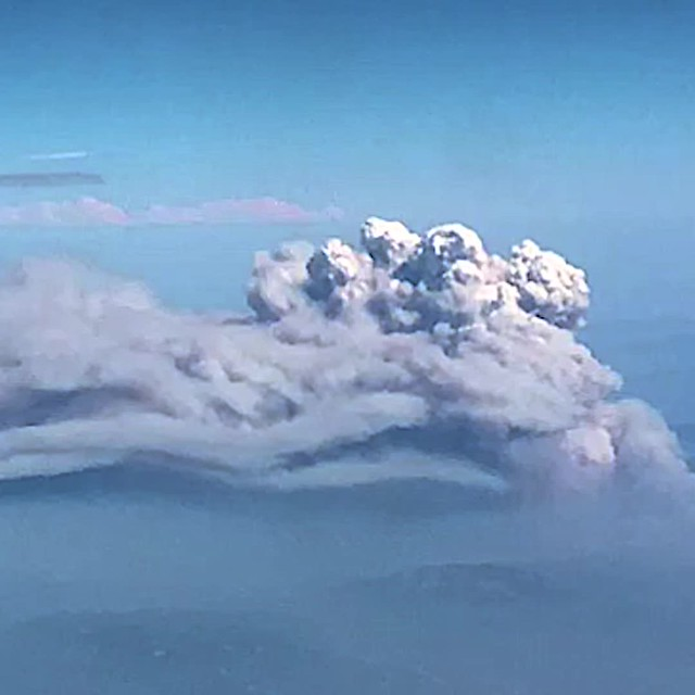Mendocino Complex Fire Pyrocumulus cloud from the air