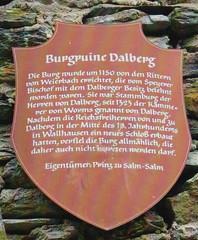 2008 Germany // Fernwanderweg E8 // Burgruine Dalberg