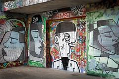 Collège de la Borde, graffiti