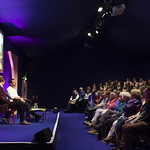 Mark Beaumont addresses his audience | © Robin Mair