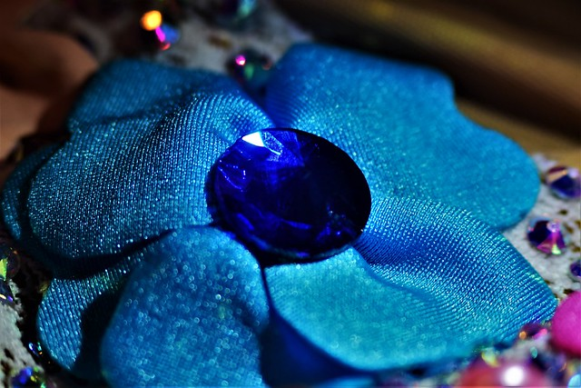Lycra Blue Flower