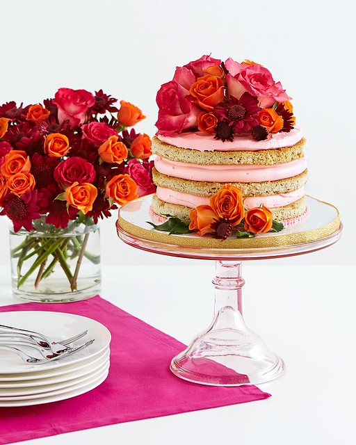 Sweet Bloom Rose Cake
