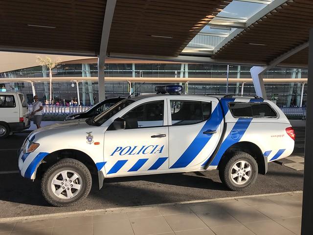 Police Car Portugal - Mitsubishi L200 Pickup Truck - Policia Portugal PSP - Faro Airport - August 2018