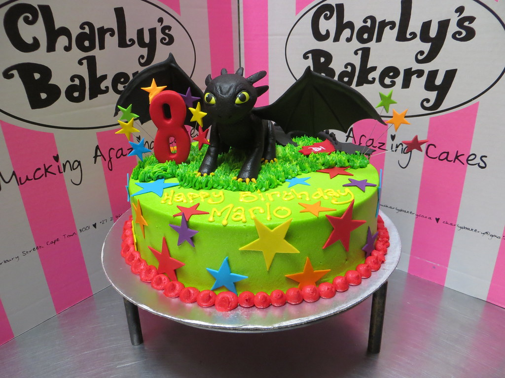 Admirable How To Train Your Dragon Themed 8Th Birthday Cake With 3D Flickr Funny Birthday Cards Online Inifodamsfinfo