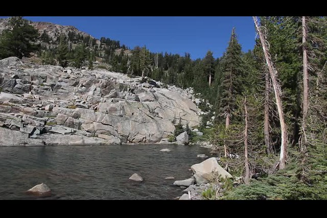 1968 Panorama video of a breezy Fontanillis Lake from the Pacific Crest Trail