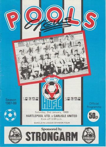 Hartlepool United V Carlisle United 2-1-88 | by cumbriangroundhopper