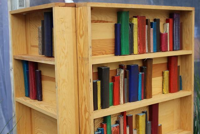 Livres bibliothèque bois - Le Livre sur la Place de Nancy 2018