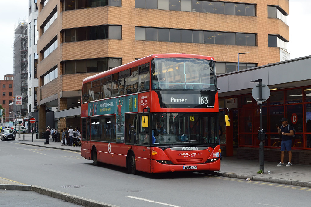 London Sovereign RATP Group SP40040 (YP58ACO) on Route 183