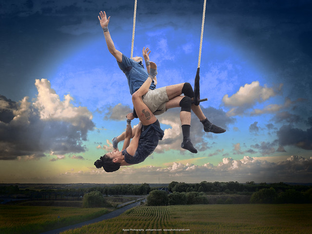 Acrobats in the Air, Silkeborg 2018  (monster manipulation :-)