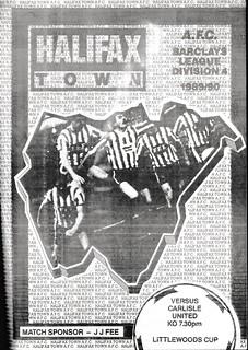 Halifax Town V Carlisle United 22-8-89   by cumbriangroundhopper