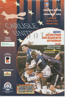 Carlisle V Shrewsbury 16-3-96 | by cumbriangroundhopper
