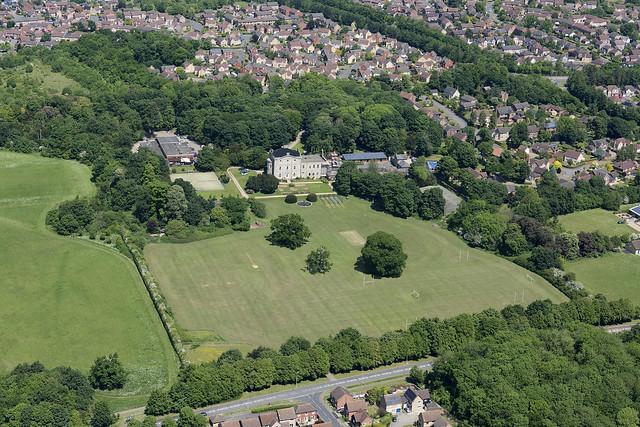 Moreton Hall Prep School aerial image