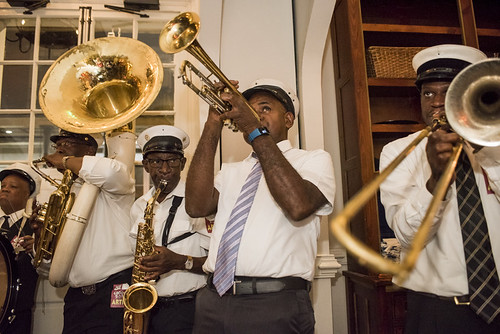 Treme Brass Band at the WWOZ Groove Gala on September 6, 2018. Photo by Ryan Hodgson-Rigsbee www.rhrPhoto.com