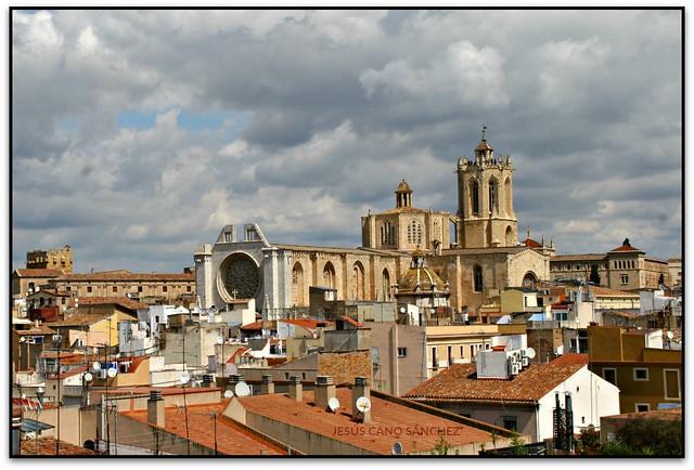 Catedral de Santa Tecla des de la Torre del Pretori, Tarragona (el Tarragonès)