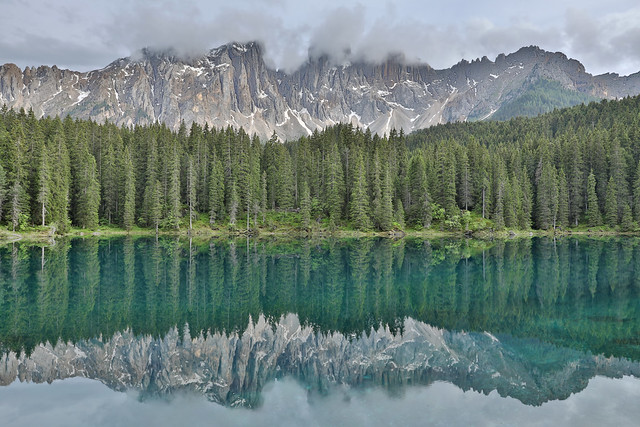 Lake Carezza, Western Dolomites,Italy