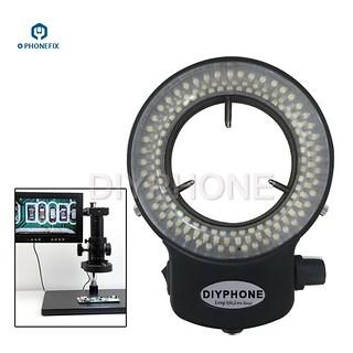 PHONEFIX 100V-240V 144LED Durable Ring Light Microscope Light Stereo Microscope Camera Magnifier Light For Cellphone Repair