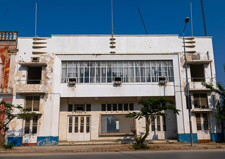 Old portuguese colonial movie theatre, Benguela Province, Lobito, Angola | by Eric Lafforgue