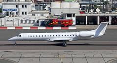 Maleth-Aero Embraer ERJ-145EP 9H-REY departing Gibraltar International Airport/LXGB