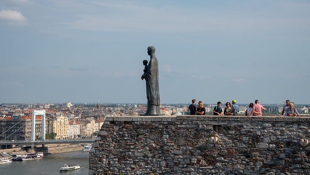 Statue of Virgin Mary and Baby Jesus, Buda Castle, Budapest, Hungary
