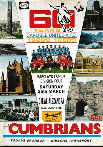 Carlisle United V Crewe Alexandra 25-3-89 | by cumbriangroundhopper