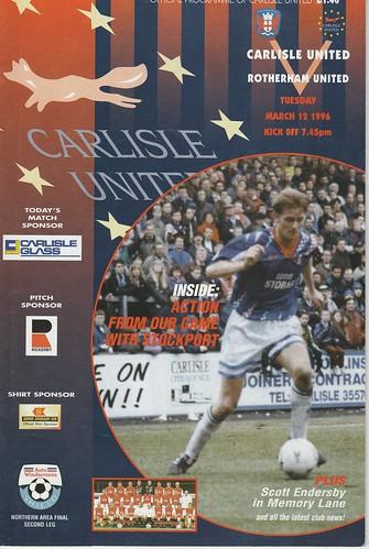 Carlisle V Rotherham 12-3-96 | by cumbriangroundhopper
