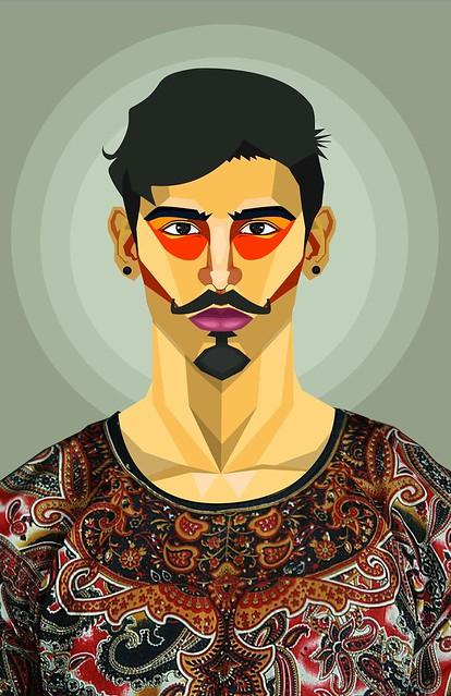 ilustración. retrato vector