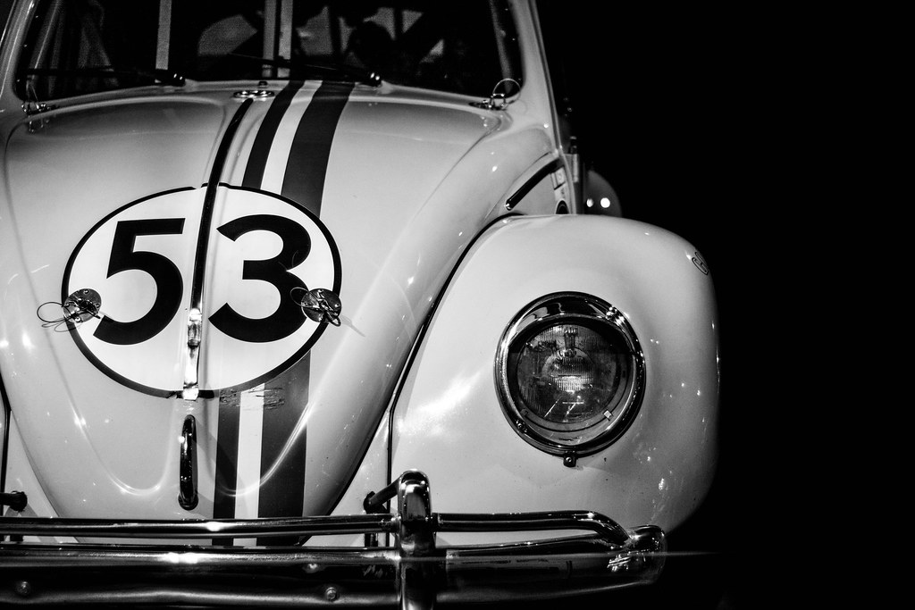 Herbie The Lovebug Black And White