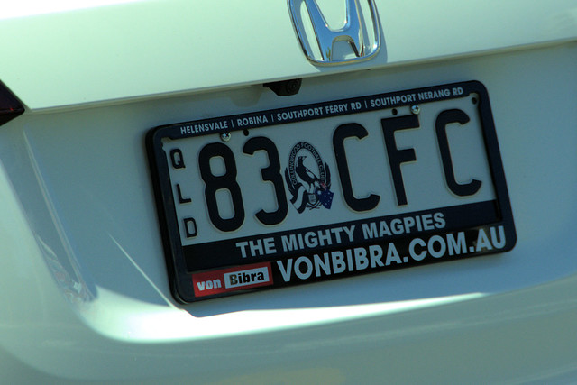 Queensland personalized plate