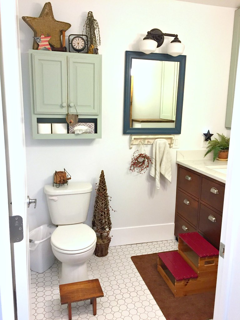 farmhouse half bath