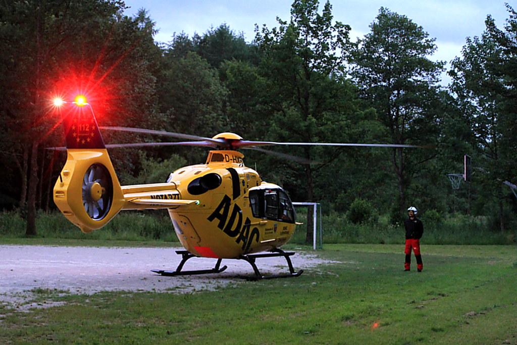 Rettungshubschrauber-RTH-ADAC