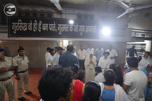 Devotees seeking blessings at Sant Nirankari Satsang Bhawan