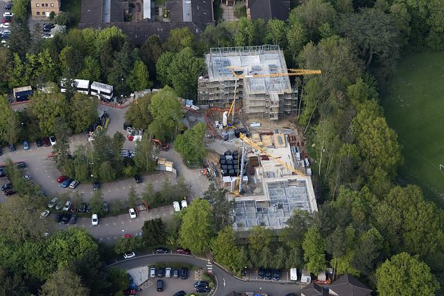 West Norfolk Hospital construction - aerial