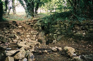 The source of Pigeonhouse Stream, down to a trickle   by knautia