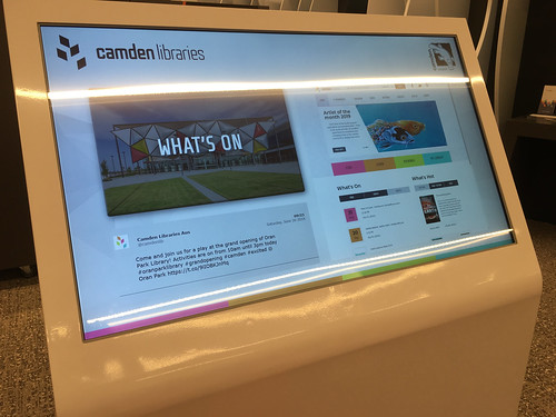 Touchscreen signage