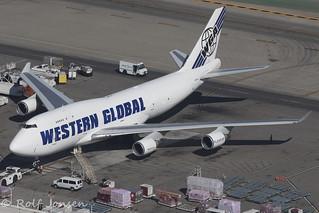 N365KD Boeing 747-400F Boeing 747-400F Western Global Airlines Los Angeles airport KLAX 14.09-18 | by rjonsen
