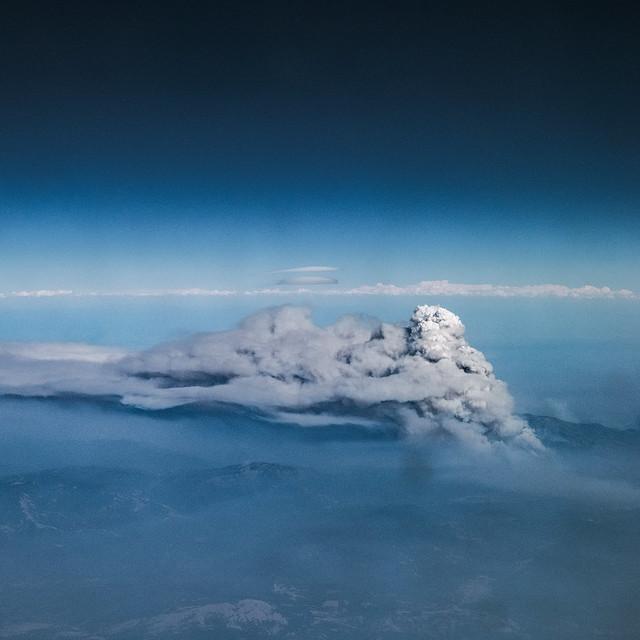 Mendocino Complex Fire Pyrocumulus cloud facing ENE