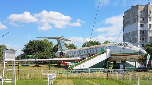 tupolev tu134k cn 0350922 balkan bulgarian airlines registration lztuo preserved silistra bulgaria