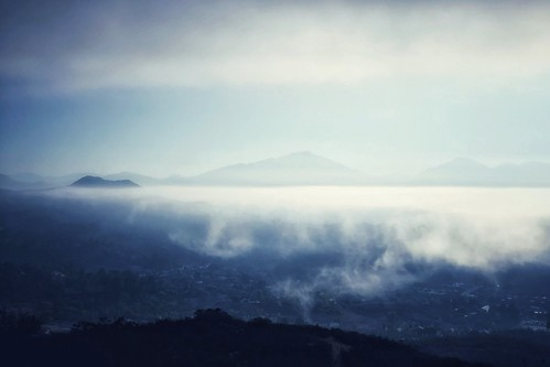 city island mountain sky cloud fog
