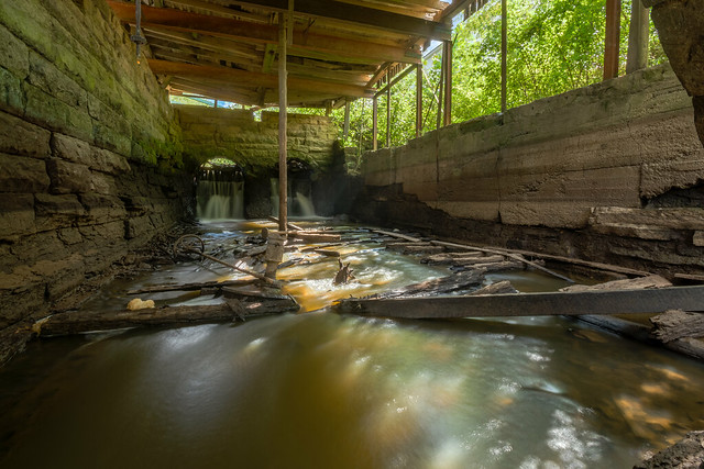 Abandoned mill, Falls of the Rough, Grayson County, Kentucky