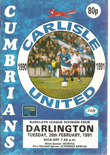 Carlisle United V Darlington 26-2-1991 | by cumbriangroundhopper