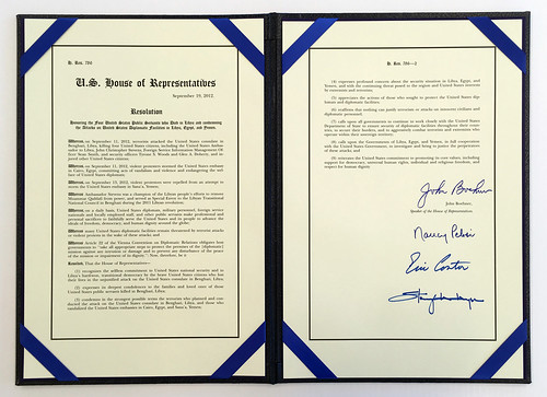 Signed Copy of House Resolution 786