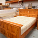 5ft solid pine bed