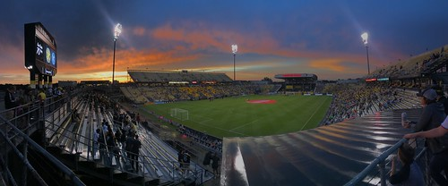 soccer mapfre crew sc columbus pregame sunset dusk scoreboard ohio savethecrew