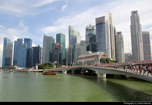 Skyline seen from the Waterfront Promenade, Singapore